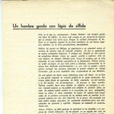 Coleccionismo Papel Varios: UN HOMBRE GORDO CON LAPIZ DE SÍLFIDE=TOMÁS PELLICER-23 LAMINAS SE COMPONEN ESTA COLECCIÓN-VER FOTOS.. Lote 183824802