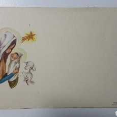 Coleccionismo Papel Varios: TARJETA ILUSTRADA FELICITACIÓN NAVIDAD NIÑO JESÚS MARÍA OVEJAS - 620/3 - 69 X 106 MM. Lote 184084865