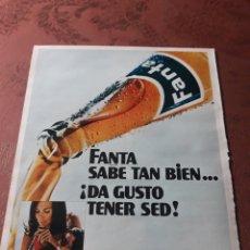 Coleccionismo Papel Varios: PUBLICIDAD DE FANTA - AÑO 1971 - 33 X 25 CM. Lote 184087115