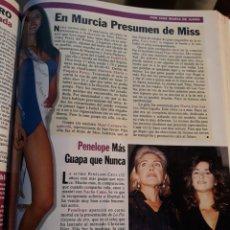 Coleccionismo Papel Varios: MISS MURCIA 1996 - ISABEL GIL ? CON ERRATA - 2 PAGINAS AÑO 1996 .. Lote 184276433