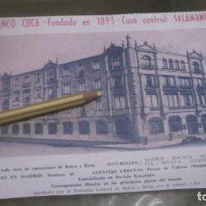 Coleccionismo Papel Varios: RECORTE PUBLICIDAD AÑO 1956 - BANCO COCA - CASA CENTRAL : SALAMANCA. Lote 184626421