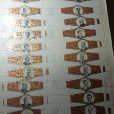 Coleccionismo Papel Varios: VITOLAS. REYES Y PRESIDENTES ( 20 VITOLA) DE PURO O TABACO.. Lote 184663211