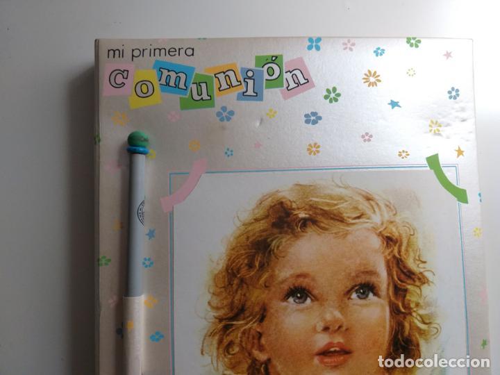 Coleccionismo Papel Varios: Recuerdo de mi primera Comunión. Block de notas, con lápiz. Caricatura de niña. - Foto 4 - 184784697