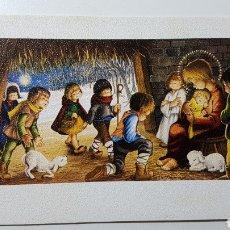 Coleccionismo Papel Varios: TARJETA ILUSTRADA NAVIDAD NIÑO JESÚS BELÉN PASTOR OVEJAS - S/575 2 - 68 X 106 MM. Lote 185738383