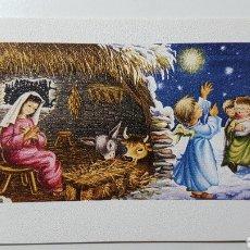 Coleccionismo Papel Varios: TARJETA ILUSTRADA NAVIDAD NIÑO JESÚS BELÉN PASTOR OVEJAS - S/575 4 - 68 X 106 MM. Lote 185738720