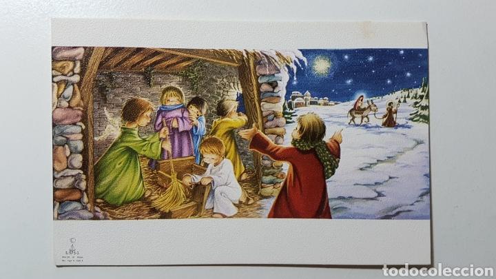TARJETA ILUSTRADA NAVIDAD NIÑO JESÚS BELÉN PASTOR OVEJAS - S/575 3 - 68 X 106 MM (Coleccionismo en Papel - Varios)