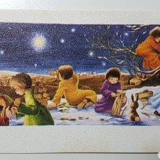 Coleccionismo Papel Varios: TARJETA ILUSTRADA NAVIDAD NIÑO JESÚS BELÉN MADERA TRONCOS - S/575 1 - 68 X 106 MM. Lote 185767103