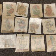 Coleccionismo Papel Varios: LOTE DE 18 ANTIGUAS CALCOMANIAS OBSEQUIO CAÑAMAS. Lote 185881682