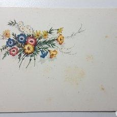 Coleccionismo Papel Varios: TARJETA ILUSTRADA NAVIDAD FLORES - 68 X 108 MM. Lote 185949016