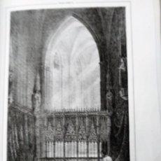 Coleccionismo Papel Varios: MALLORCA CAPILLA REAL DE LA CATEDRAL DE PALMA 1855 PARCERISA. Lote 185990305