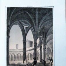 Coleccionismo Papel Varios: MALLORCA PATIO DEL CASTILLO DE BELVER 1855 PARCERISA. Lote 185991668