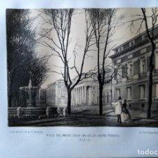 Coleccionismo Papel Varios: MADRID VISTA DEL MUSEO DESDE UNA DE LAS CUATRO FUENTES 1855 PARCERISA. Lote 185995673