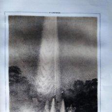 Coleccionismo Papel Varios: S. ILDEFONSO MADRID FUENTE DE LA FAMA 1855 PARCERISA. Lote 185997026