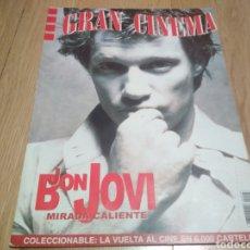 Coleccionismo Papel Varios: GRAN CINEMA REVISTA DE CINE BON JOVI MIRA SORVINO PEDRO ALMODÓVAR 1999. Lote 186192451