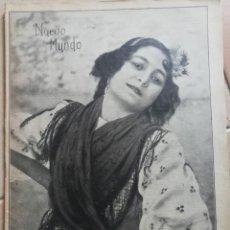 Coleccionismo Papel Varios: NUEVO MUNDO.REVISTA ANTIGUA ILUSTRADA.AÑO 1908. NUMERO 780.. Lote 186311317