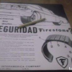 Coleccionismo Papel Varios: RECORTE PUBLICIDAD AÑO 1961 - NEUMATICOS FIRESTONE. Lote 187246130