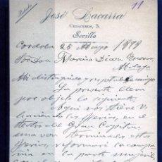 Coleccionismo Papel Varios: CARTA ORIGINAL DIRGIDA A DON NARCISO DIAZ DE ESCOVAR AÑO 1899-LEER DESCRIPCIÓN DE ESTE LOTE .. Lote 187486056