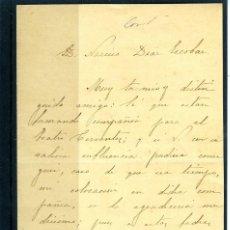 Coleccionismo Papel Varios: CARTA ORIGINAL DIRIGIDA A D. NARCISO DIAZ DE ESCOVAR AÑO AÑO 1889-LEER DESCRIPCIÓN DE ESTE LOTE .. Lote 187486871