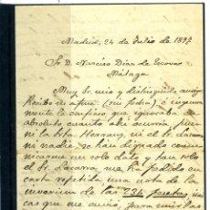 Coleccionismo Papel Varios: CARTA ORIGINAL DIRIGIDA A D. NARCISO DIAZ DE ESCOVAR-CONTIENE 4 PAGINAS ESCRITAS-LEER DESCRIPCIÓN .. Lote 187489455
