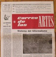 Coleccionismo Papel Varios: CORREO DE LAS ARTES 10. 1958. SISTEMA DEL INFORMALISMO. BARCELONA. 45X32 CM. 6 PÁGINAS.. Lote 188731498