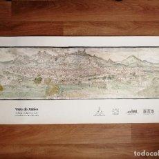 Altri oggetti di carta: PÓSTER REPRODUCCIÓN VISTA DE JÁTIVA, DIBUJANTE FLAMENCO ANTON WYNGAERDE, BIENAL VALENCIA, 2003. Lote 188810806
