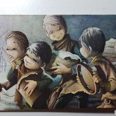 Altri oggetti di carta: DÍPTICO ILUSTRADO POR M ÁNGEL - NAVIDAD NIÑOS MÚSICA - NOEL MAN 323/4 - AÑO 1964 - 80 X 160 MM. Lote 188862551