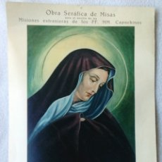 Coleccionismo Papel Varios: OBRA SERÁFICA DE MISAS 1957. Lote 189196565