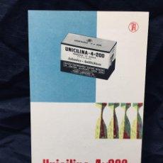 Coleccionismo Papel Varios: INYECCIONES UNICILINA FRASCOS PENICILINA SÓDICA DR LUIS FREIRE DEL NERO FEBRERO 1960. Lote 189311450