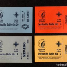 Altri oggetti di carta: INVITACIONES FIESTAS DE MAYO CARAVACA, AÑOS 80. Lote 189482970