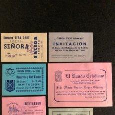 Altri oggetti di carta: INVITACIONES FIESTAS DE MAYO CARAVACA, AÑOS 80. Lote 189482988