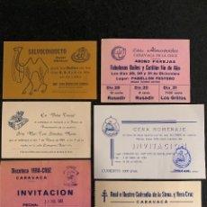 Altri oggetti di carta: INVITACIONES FIESTAS DE MAYO CARAVACA, AÑOS 80. Lote 189483007