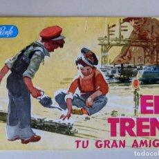 Coleccionismo Papel Varios: 1963 EL TREN TU GRAN AMIGO - RENFE - FERROCARRILES - FOLLETO DIVULGATIVO - PUBLICIDAD PAYA. Lote 189558657