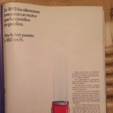 Coleccionismo Papel Varios: PUBLICIDAD AUTOMÓVIL VW GOLF DE 1986. Lote 189961908