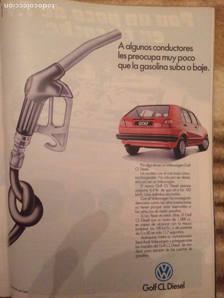 PUBLICIDAD AUTOMÓVIL VW GOLF DE 1986 (Coleccionismo en Papel - Varios)