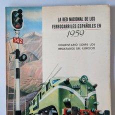 Coleccionismo Papel Varios: 1959 RENFE LOS FERROCARRILES ESPAÑOLES COMENTARIO SOBRE RESULTADOS EJERCICIO. Lote 190146058