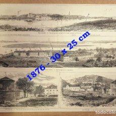 Coleccionismo Papel Varios: HUECOGRABADO - BELGRADO Y CETTIGNE - (PHOTOS DE BELGRADO ET CETTIGNE) - 30 X 25 CM - 1876. Lote 190437492