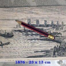 Coleccionismo Papel Varios: HUECOGRABADO - CIUDAD DE SEMENDRIA (SERBIA) - 23 X 13 CM - 1876. Lote 190889683
