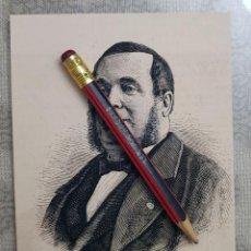 Coleccionismo Papel Varios: HUECOGRABADO - ANTONIO TAMBURINI - 12 X 10 CM -1876. Lote 190894041