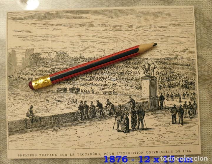 HUECOGRABADO - PRIMEROS TRABAJOS, EXPOSICIÓN UNIVERSAL 1878 - 15 X 12 CM -1876 (Coleccionismo en Papel - Varios)