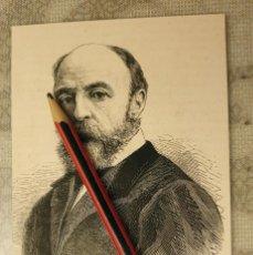 Coleccionismo Papel Varios: HUECOGRABADO - EUGÈNE FROMENTIN (PINTOR Y ESCRITOR FRANCES) - 15 X 10 CM -1876. Lote 190895097