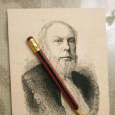 Coleccionismo Papel Varios: HUECOGRABADO - SIR THOMAS WHITE - 14 X 11 CM -1876. Lote 190895527