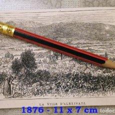 Coleccionismo Papel Varios: HUECOGRABADO - CIUDAD DE ALEXINATZ (SERVIA) - 11 X 7 CM -1876. Lote 190895661