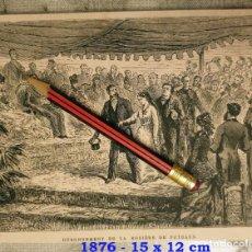 Coleccionismo Papel Varios: HUECOGRABADO - OURONNEMENT DE LA ROSIÉRE DE PUTEAUX - 15 X 12 CM -1876. Lote 190895887