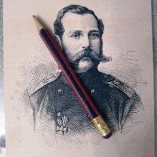 Coleccionismo Papel Varios: HUECOGRABADO - ALEXANDRE II - EMPERADOR DE RUSIA - 13 X 11 CM -1876. Lote 190895933