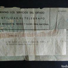 Coleccionismo Papel Varios: TELEGRAMA INTIMO Y PERSONAL..POSGUERRA ESPAÑOLA. ENVIO INCLUIDO EN EL PRECIO.. Lote 190902846