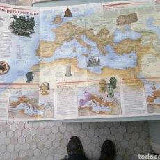 Coleccionismo Papel Varios: MAPA HISTORICO DEL IMPERIO ROMANO. NATIONAL GEOGRAPHIC. 89X58 CM. MUY DIDACTICO Y COMPLETO.. Lote 190925192