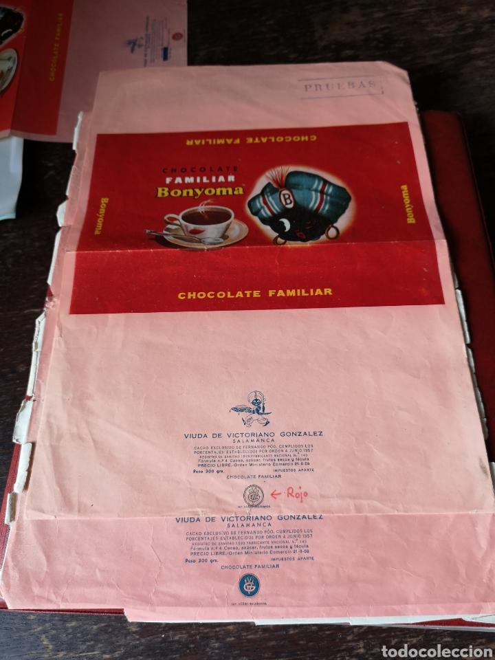 Coleccionismo Papel Varios: Prueba envoltorio de chocolates Santa Juliana Salamanca - Foto 2 - 191079533