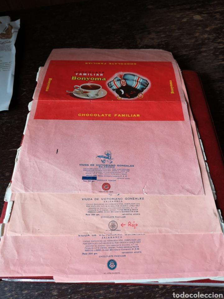 Coleccionismo Papel Varios: Prueba envoltorio de chocolates Santa Juliana Salamanca - Foto 3 - 191079533