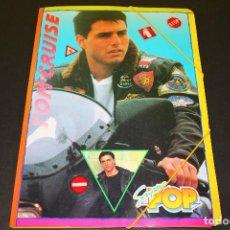 Coleccionismo Papel Varios: CARPETA SÚPER POP - TOM CRUISE - SAMANTHA FOX - '80S. - CON TODOS LOS ADHESIVOS FLUORESCENTES!!. Lote 191495470