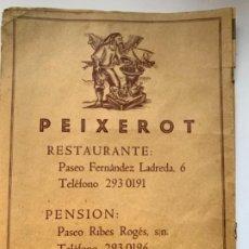 """Coleccionismo Papel Varios: PÁGINA PUBLICITARIA """"RESTAURANTE PEIXEROT"""". Lote 191762543"""